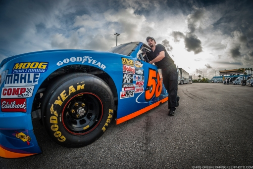 Homestead, FL - Nov 19, 2015: NASCAR teams take to the track on Goodyear tires for NASCAR at Homestead-Miami Speedway in Homestead, FL.
